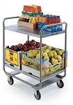 Utility Cart Stainless Steel: 2 shelf; 21
