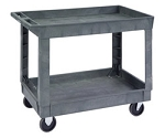 Deep Well Utility Cart : 2 shelf; 24