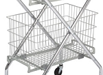 Multi-Purpose Folding Cart Basket: 14-1/4
