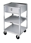 Stainless Steel Equipment Stand Shelves: 3; 8-1/8