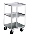 Stainless Steel Equipment Stand: Shelves: 3; 10-3/4