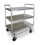 Utility Cart Chrome Plated Legs/Frame: 3 shelf; 21