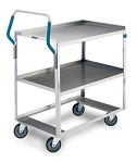 Ergo-One System Utility Cart, medium duty: 2 shelf; 15-1/2