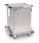 Stainless Steel Closed Cart, One Door: WIRE Shelf Width: 24