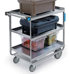 Utility Cart - Angle U- Frame Design - Stainless Steel: 3 shelf; 18