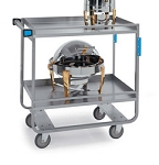 Utility Cart - Angle Design - Stainless Steel: 2 shelf; 18