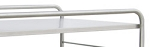 Stainless Steel Distribution Supply Carts: STAINLESS STEEL SHELF: 38-1/2 W x 28-3/4