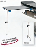 Rectangular Carbon Fiber Arm/Hand Surgery Table with Single Post leg & 2