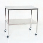 Stainless Steel Instrument Table/Back Table with Shelf: 16