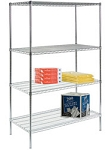 Round Post Wire Shelving Units: Starter Kit; dimensions: 18