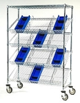Slanted Shelf Suture Carts: Dimensions: 24