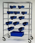 Catheter Procedure Carts with Bins: Dimensions: 24