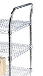 Round Post Wire Shelving Carts: Utility Cart Handles; dimensions: 33