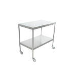 Instrument Table w/ Shelf (20 x 48 x 34) Stainless Steel w/ Heavy Duty Casters