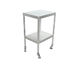 Instrument Table w/ Shelf (16 x 20 x 34) Stainless Steel w/ Heavy Duty Casters