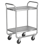 Utility Cart Chrome Plated Legs/Frame: 2 shelf; 15-1/2