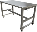 Large Stainless Steel Work Table