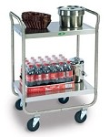 Utility Cart Stainless Steel: 2 shelf; 15-1/2