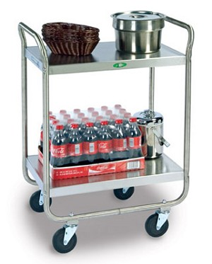 Utility Cart Chrome Plated Legs/Frame: 2 shelf; 21