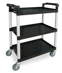 Plastic Utility Cart: 3 shelf; 16