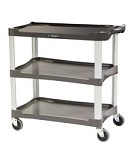 Plastic Utility Cart (Charcoal): 3 shelf; 16
