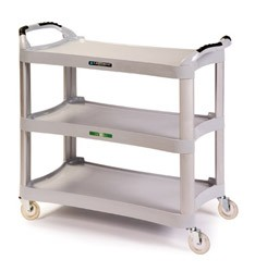 Plastic Utility Cart (Light Grey): 3 shelf; 16-3/4