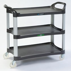 Plastic Utility Cart (Charcoal): 3 shelf; 16-3/4