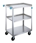Utility Cart - Stainless Steel: 3 shelf; 15-1/2