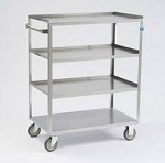 Linen Cart, standard duty: 4 shelf; 15-1/2