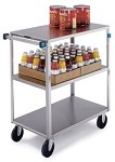 Stainless Steel Multi-Shelf Cart: 3 shelf; 18