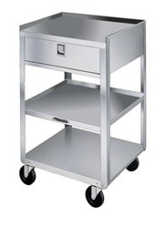 "Stainless Steel Equipment Stand: 16-3/4"" W x 18-3/4"" D x 30-1/8"""
