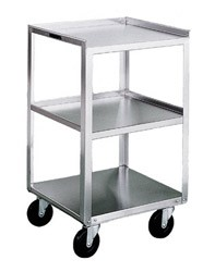 "Stainless Steel Equipment Stand: 16-3/4"" W x 18-3/4"" D x 30-1/8"", No Drawers"