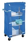 Linen Cart, medium duty with cover: 4 shelf; 21