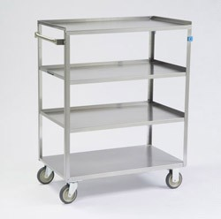 Linen Cart, medium duty: 4 shelf; 21