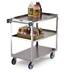 Utility Cart Stainless Steel: 3 shelf; 21