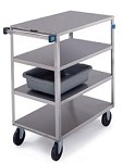 Stainless Steel Multi-Shelf Cart: 4 shelf; 21