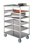 Stainless Steel Multi-Shelf Cart: 6 shelf; 21