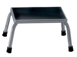 Step Stool: Chrome Step Stool without Handrail; dimensions: 11