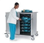 Tray Delivery Carts - Low Profile Stainless Steel: tray capacity: 28ea