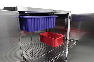 Fixed Shelf for Closed Cart, PERFORATED S/S Shelf Width: 36""