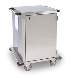 "Stainless Steel Closed Cart, One Door: PERFORATED S/S Shelf Width: 18"": 30-1/2"" W x 29"" D x 55"""