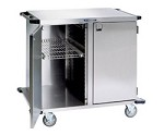 Stainless Steel Closed Cart, Two Door: PERFORATED S/S Shelf Width: 13-1/2