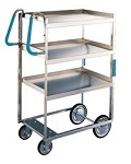 Ergo-One System Utility Cart, heavy duty: 3 shelf; 18
