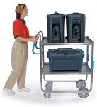 Ergo-One System Utility Cart, heavy duty: 2 shelf; 21