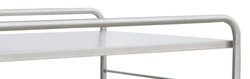 "Stainless Steel Distribution Supply Carts: STAINLESS STEEL SHELF: 38-1/2 W x 28-3/4"" D x 38-1/2"""