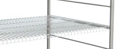 "Stainless Steel Distribution Supply Carts: WIRE SHELF: 32-1/2 W x 32-3/4"" D x 61-1/2"""