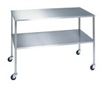 Stainless Steel Instrument Table with Shelf: 16