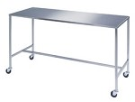 Stainless Steel Instrument Table with H-Brace: 24