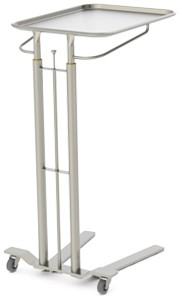 Mayo Stand, Hand operated friction lock height adjustment/dual post