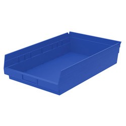 "Optional Shelf Bin: Inner: 16-1/2"" x 10"" x 4"".Color: Blue"